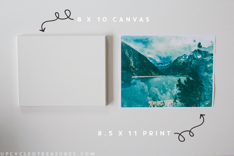 FREE Printable + Easy Canvas Art From A Printed Photo