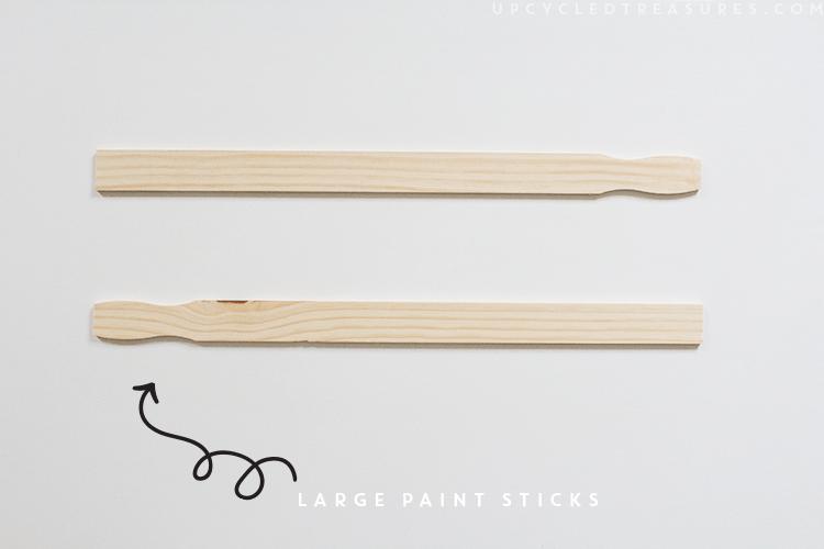 using paint sticks to frame art. | MountainModernLife.com