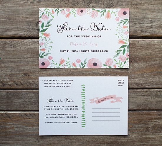 save the date free templates printable