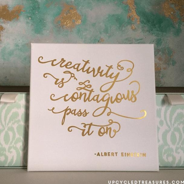 Inspiring DIY Gold Foil Wall Art
