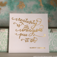 Inspiring DIY Gold Foil Wall Art