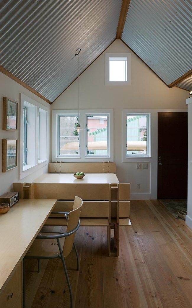 Floating Guest House with Corrugated Metal Interior   Tiny House Blog