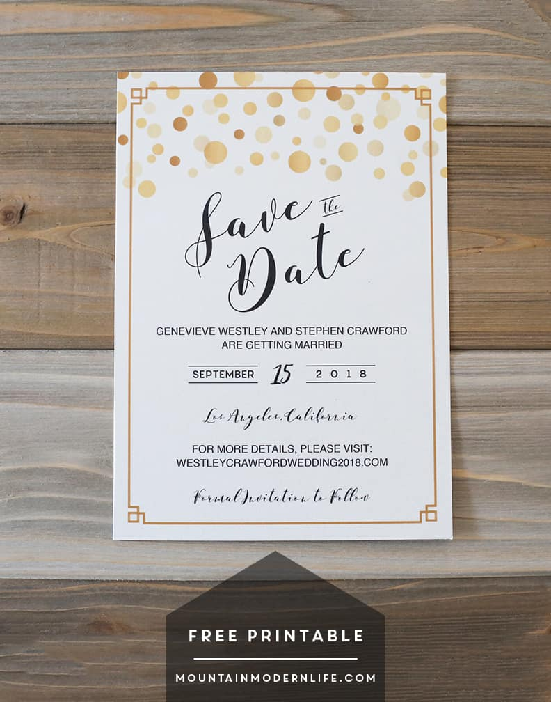 Print Own Save Dates