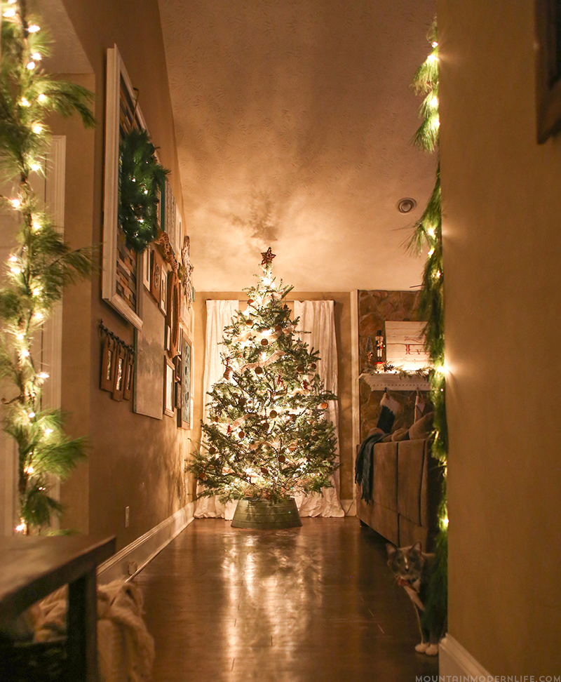 Come see how we decked out our home for the holidays with our cozy Christmas home decor! MountainModernLife.com