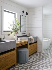 Rustic Modern Bathroom Designs | MountainModernLife.com