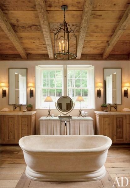 rustic master bathroom Rustic Modern Bathroom Designs | MountainModernLife.com