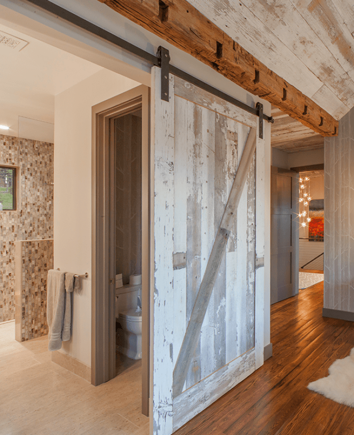 15 Great Rustic Hallway Designs That Will Inspire You With: Sliding Barn Door Designs