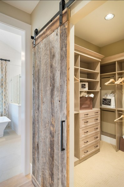 rustic bedroom closet doors Sliding Barn Door Designs - MountainModernLife.com