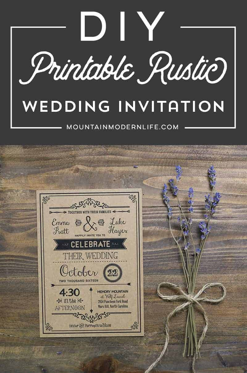 Printable Invites Diy