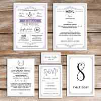 Printable Lavender DIY wedding invitation set