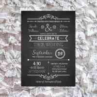 Chalkboard DIY wedding invitation set