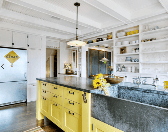 Kitchens with 2-toned Cabinets