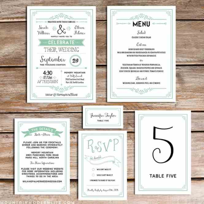 Hipster Diy Wedding Invitation