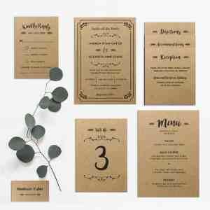 DIY Wedding Invitation Set