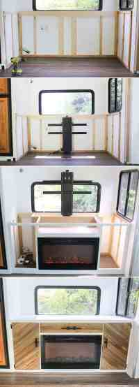 Installing a TV Lift and Electric Fireplace in RV ...