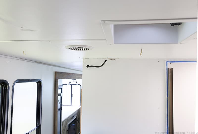 How we Replaced the Ceiling Panel in our RV