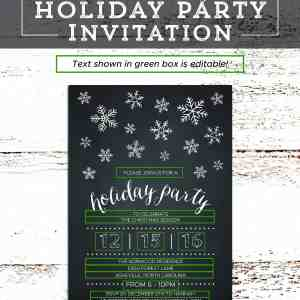 Printable DIY Holiday Party Invitation