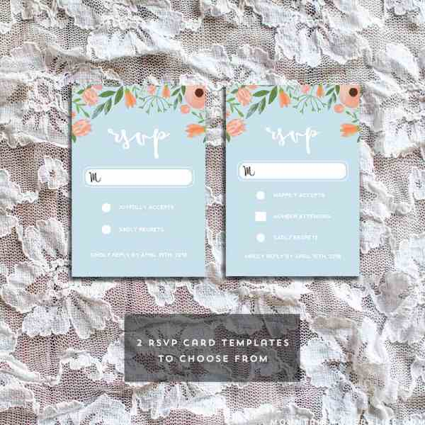 Printable Vintage Floral RSVP Card Templates | MountainModernLife.com