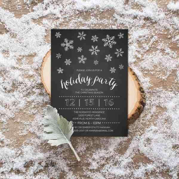 Printable DIY Holiday Invitation | MountainModernLife.com