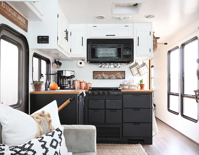 Are you thinking about updating the kitchen in your RV or camper? Come see how we made a huge impact in our motorhome with our RV kitchen renovation!
