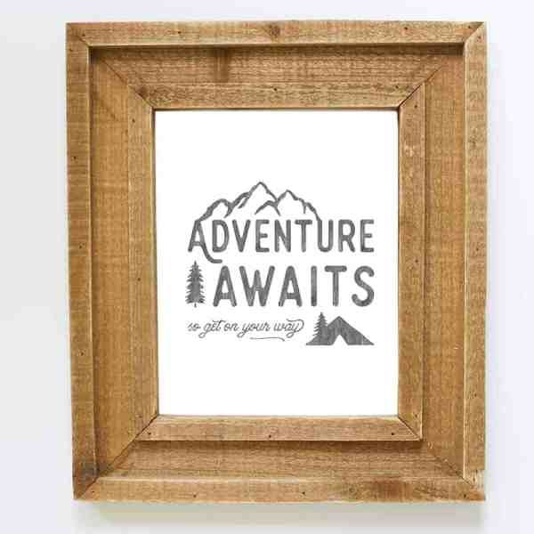 Adventure Awaits Printable | MountainModernLife.com