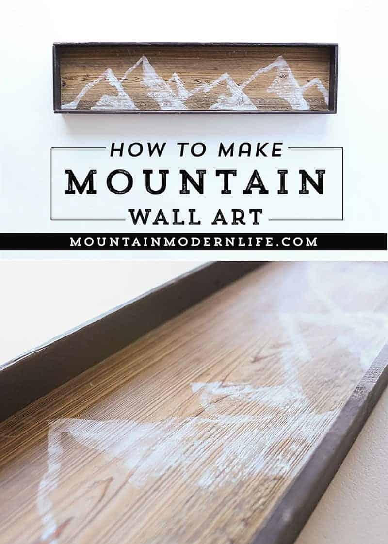 How to make mountain wall art | MountainModernLife.com