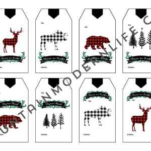 Printable Christmas Gift Tags | MountainModernLife.com
