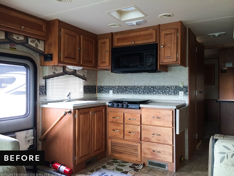 RV Kitchen Remodel Before Photo | MountainModernLife.com