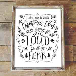 Christmas Cheer Printable | mountainmodernlife.com