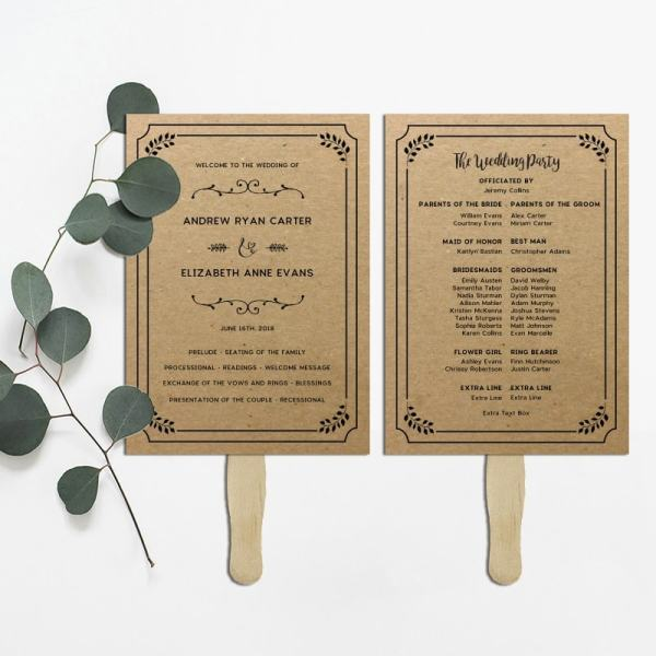 Printable Rustic DIY Wedding Program   MountainModernLife.com