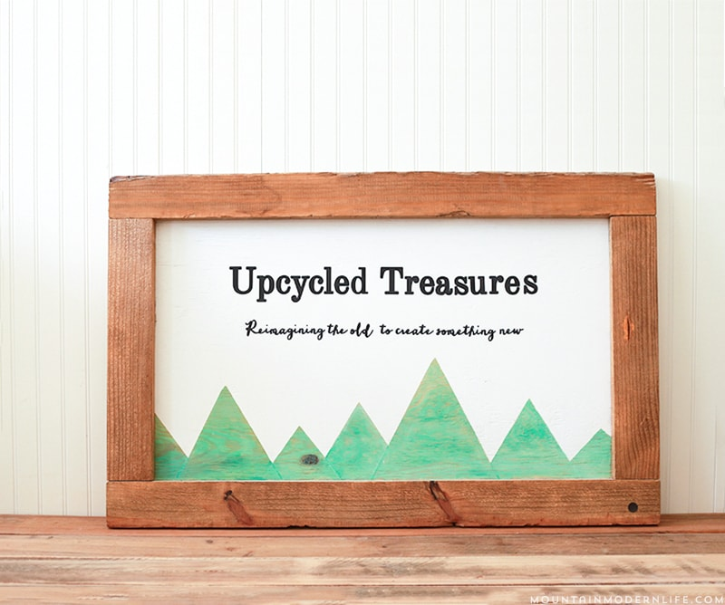 DIY Rustic Sign from Upcycled Pallets | MountainModernLife.com
