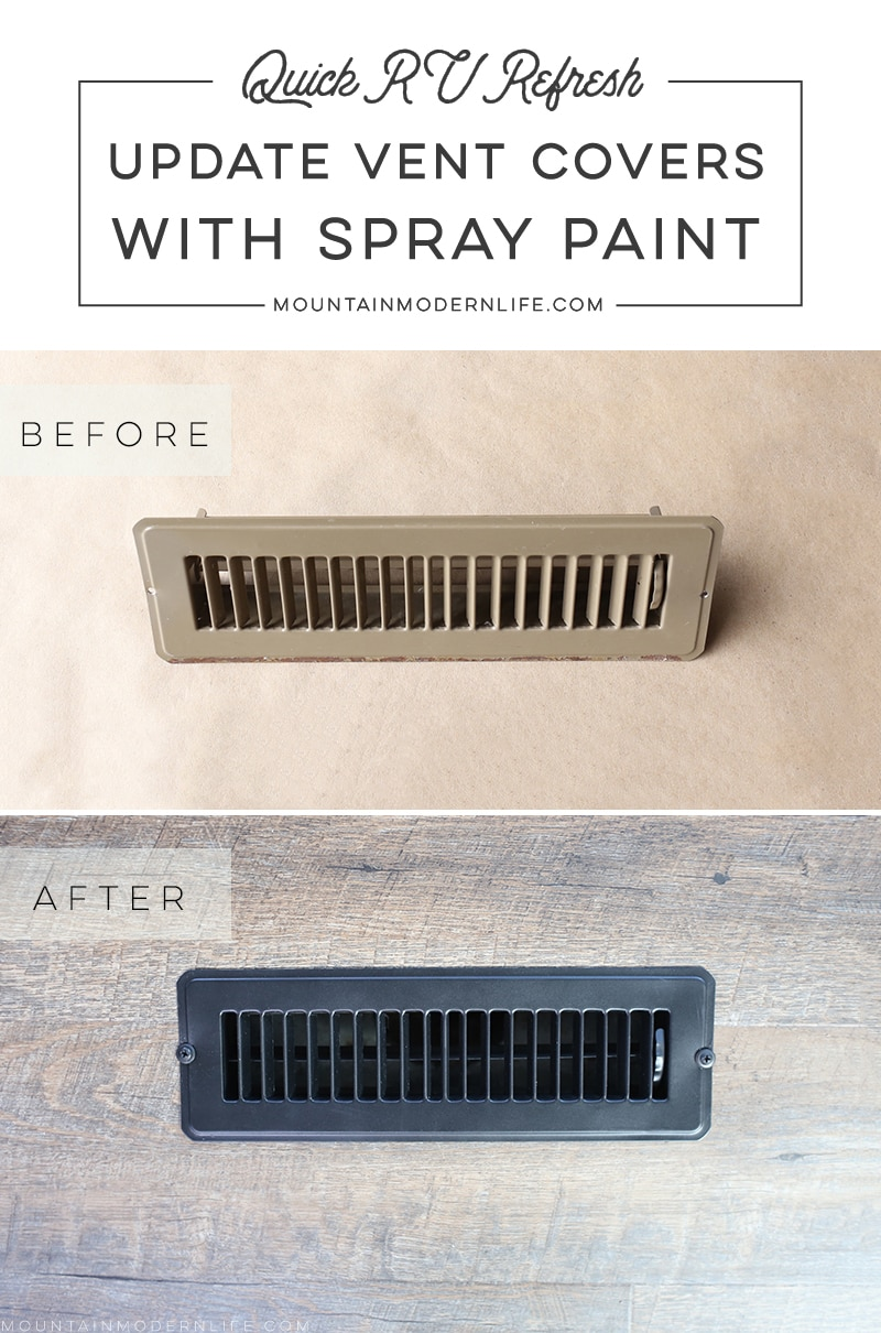 When it comes to renovating a home, even a tiny one on wheels, money spent on projects can quickly add up. Rather tha replace your RV vent covers, paint them! MountainModernLife.com