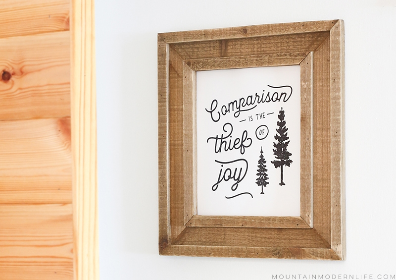 Looking for ways to easily hang frames without using screws or nails? Check out our favorite way to hang wall decor in a RV! MountainModernLife.com