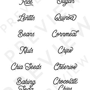 Printable Rustic Pantry Labels + SVG file | MountainModernLife.com