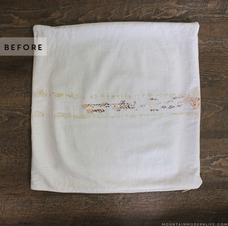 leftover-glue-reside-on-pillow-cover-mountainmodernlife.com