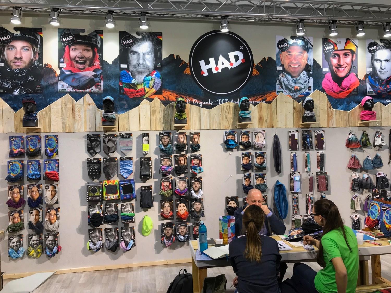 Ispo 2018 Banner, ispo 2018, mountain moments werbung, had originals, schlauchtücher, bufftücher