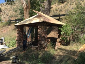 The wellhouse at Starbuck Park in Idledale gets maintenance attention