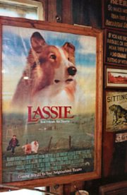 Scenes for the movie version of Lassie were filmed nearby and in the pub.