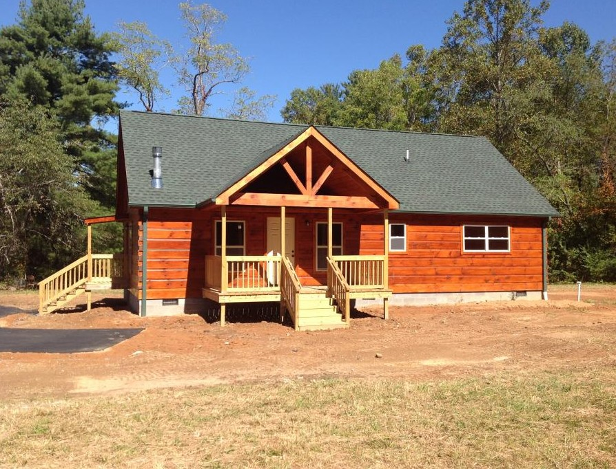 Mrlc 48 4 mountain recreation log cabins for Cottage builders nc
