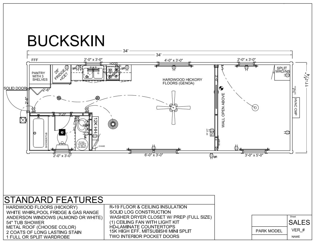 BUCK SKIN FLOORPLAN