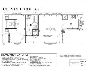 40' x 24' CHESTNUT COTTAGE - Modular Log Cabin
