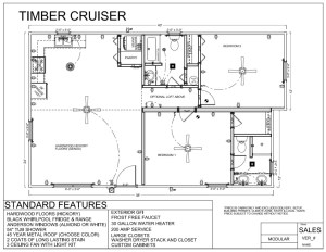40' x 24' TIMBER CRUISER FLOORPLAN - Modular Log Cabin