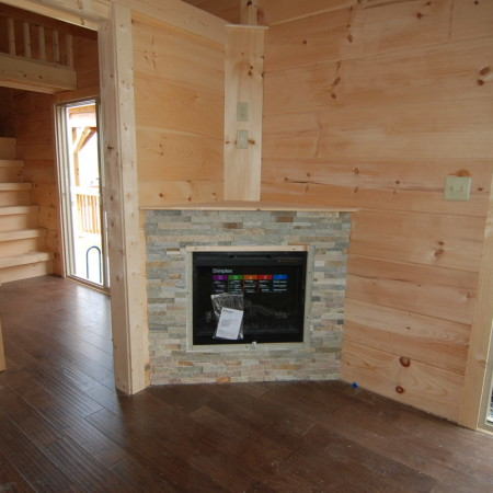 Full Multi Colored Fireplace LP