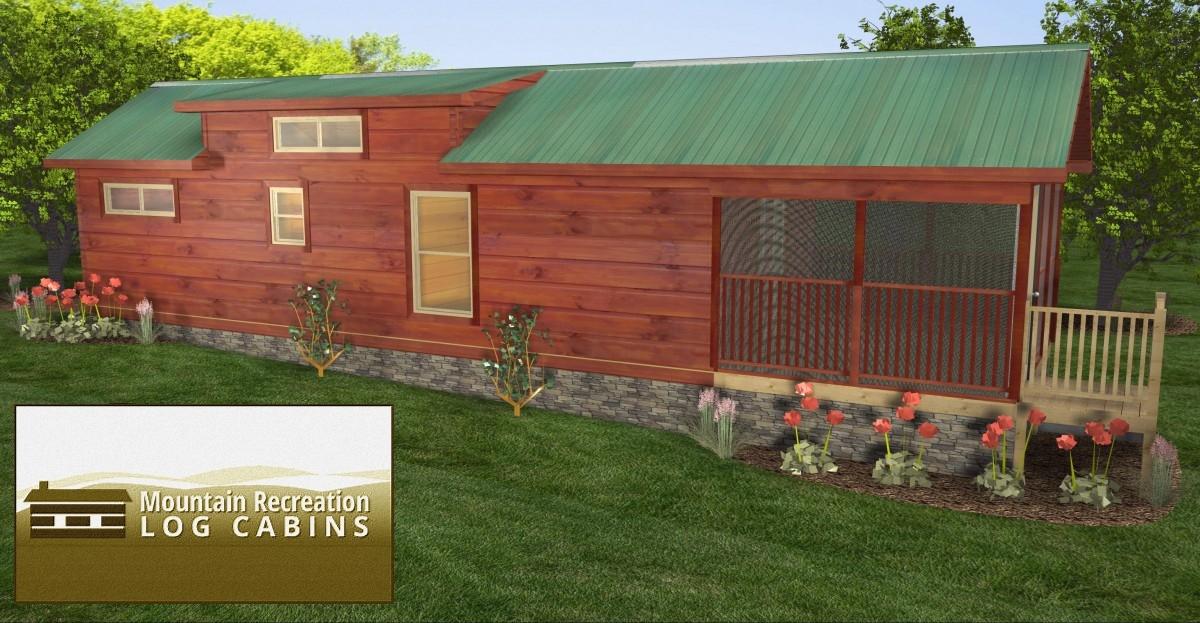 44u2032 X 12u2032 Top Line U2013 Park Model Log Cabin (Best)