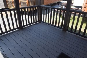 Trex Decking with Cedar Rails