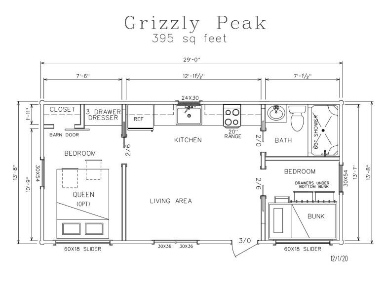 Grizzly Peak Park Model Log Cabin