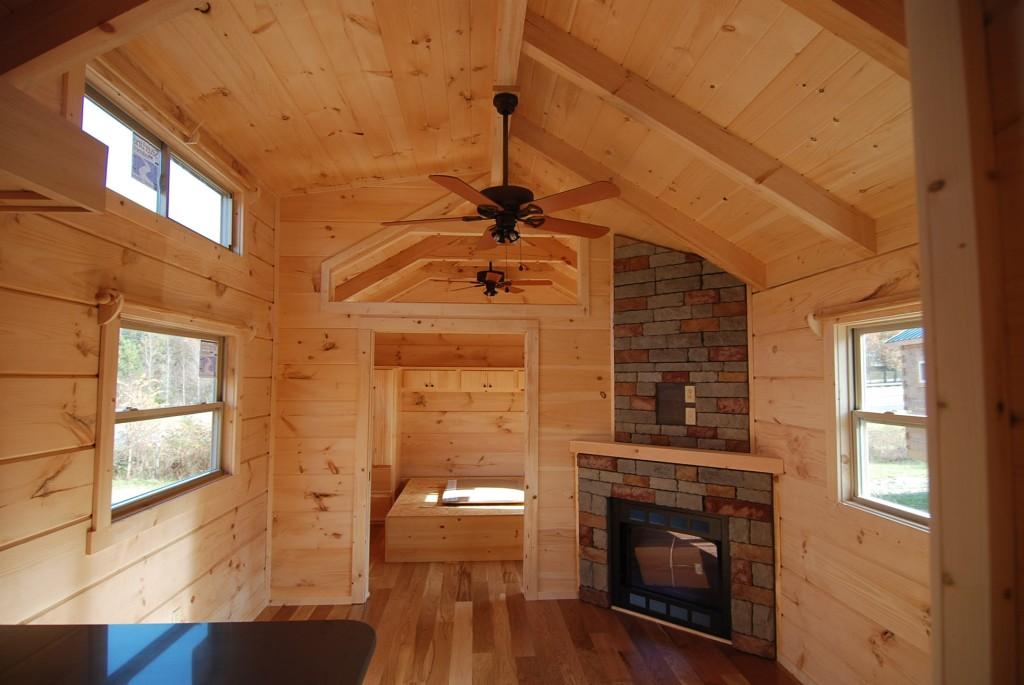 34 x 12 Greyson wPorch  Park Model Log Cabin  Mountain Recreation Log Cabins