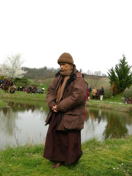 Thich Nhat Hann in Plum Villages 2006