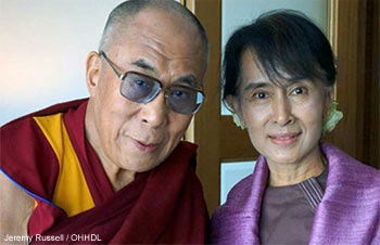 The Dalai Lama Met With Aung San Suu Kyi