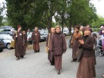 Thich Nhat Hanh Walking Mindfully with Monks and Nuns